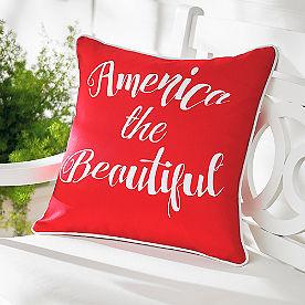 America Red Patriotic Pillow