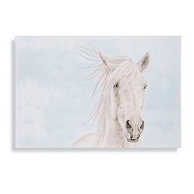 Beach Horses Pearl Wall Art