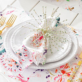 Bexley Melamine Dinner Plates, Set of Six