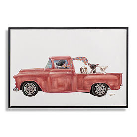 Dogs in Trucks Wall Art