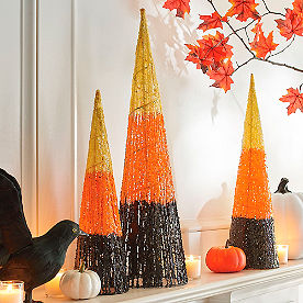 Halloween Cone Trees, Set of Three