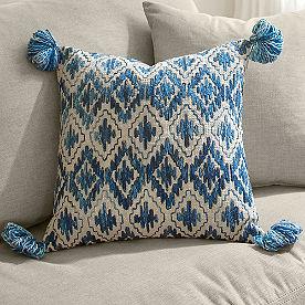Bodega Blue Tassel Pillow