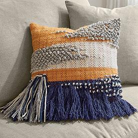 Bodega Orange Splash Pillow