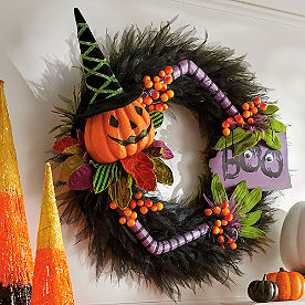 Pumpkin Boo Wreath