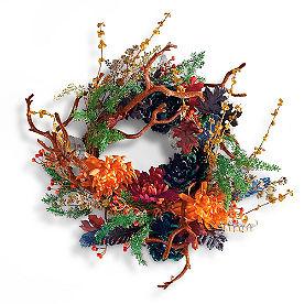Midnight Garden Wreath