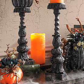 Baroque Candle Holders, Set of Two