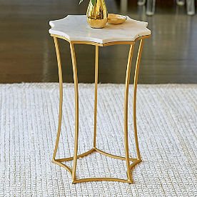 Ursa Marble Top Accent Table