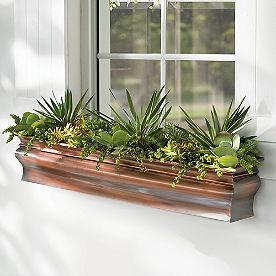 Lena Copper Window Box
