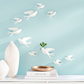 Set of Five Birds of Flight Wall Art