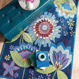 Hand-hooked Garden Indoor Area Rug