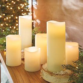 Flameless Pillar Candles