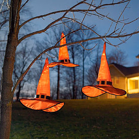 Set of Three Hanging Witch Hats