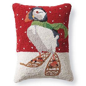 Puffin Winter Wonderland Pillow