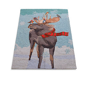 Moose Winter Wonderland Rug