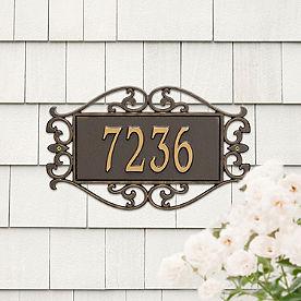 Fretwork Address Plaques