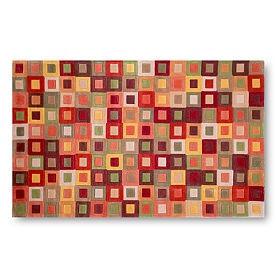 Amalfi Squares Area Rug in Autumn