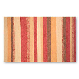 Ravella Stripes Outdoor Rug in Red