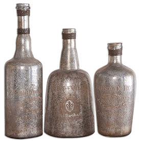 Set of Three Lamaison Bottles