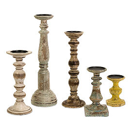 Set of Five Kanan Candle Holders