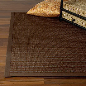 Solid Chocolate Jumbo Boucle Sisal Rug