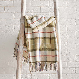 Lambswool Plaid Throw