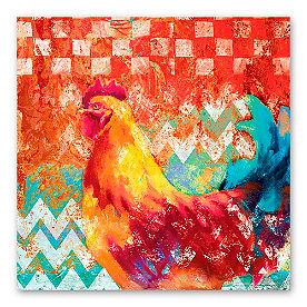 Funky Rooster Wall Art