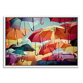 Umbrella Street Framed Wall Art