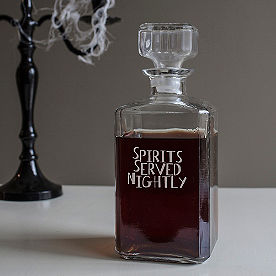 Spirits Served Nighly Decanter