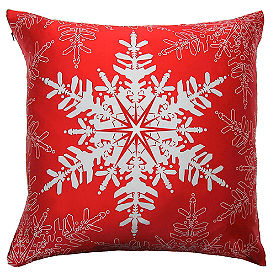 Perfect Snowflake Throw Pillow