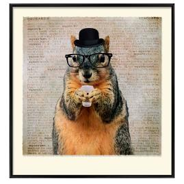 Coffee Shop Squirrel Wall Art