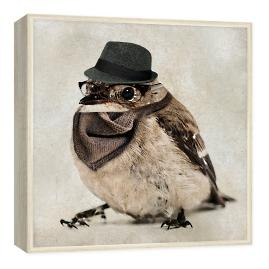 Hipster Bird Wall Art