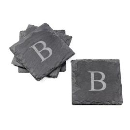 Personalized Slate Coasters, Set of Four