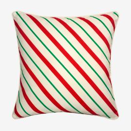 Candy Cane Stripe & Dots Pillow |