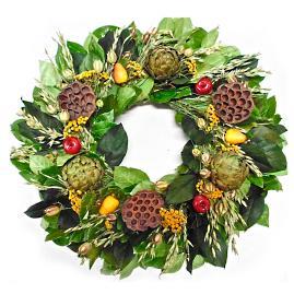 Artichoke and Pears Wreath