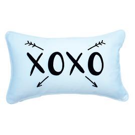 """XOXO"" Arrows Lumbar Pillow"