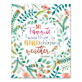 """Bird Chirping Weather"" Canvas 