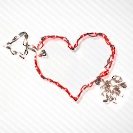 Heart with Arrow LED Light Display