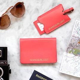 Wanderlust Passport & Luggage Tag Set