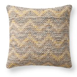 Magnolia Home Yellow and Grey Square Pillow |