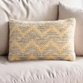 Magnolia Home Yellow and Grey Lumbar Pillow