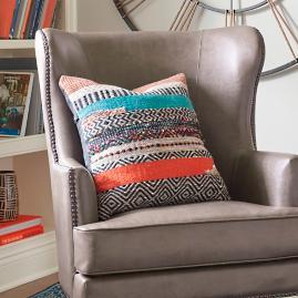 Boho Stripe Square Pillow