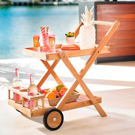 Oceanport Teak Bar Cart