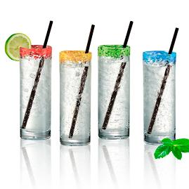 Mingle Coolers with Straws, Set of Four