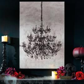 Glam Chandelier Canvas Wall Art