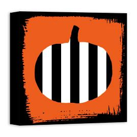 Pumpkin Stripes Wall Art