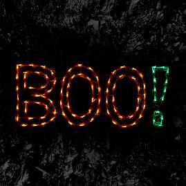 Pre-Lit LED BOO