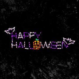 Pre Lit LED Happy Halloween
