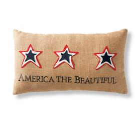 "Americana ""America the Beautiful"" Pillow"