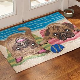 Sporting Sun Bathing Dog Mat