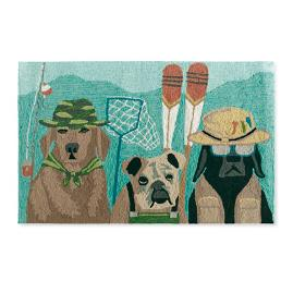 Camping Dogs Mat